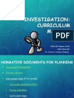 Investigation of the Puerto Rico Curriculum Mapping - First Grade - Heidie Vázquez