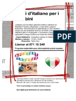 Modelo poster para promoción Clases