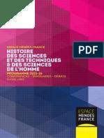 Histoire des sciences 2016