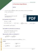 Cours Math - Fonctions Logarithmes - Bac Math Mr Abidi Farid