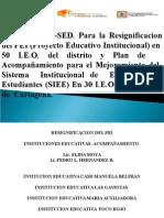 Primera Socialización de Avances PEI Grupo 6