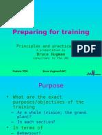 Preparing for Training