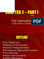 Chapter 2 – Part I - The Derivative