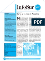 Infosur Comuna 2 - Número 1 - Marzo 2010