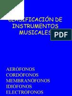 Clasificacion de Instrumentos Musicales