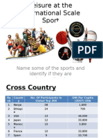 2  leisure at international scale - sport