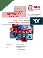 Informe de Metrologia y Control de Calidad