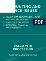 Accounting and Finance Issues