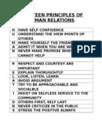 Fourteen Principles of Human Relations