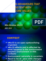 Improving Behavours Consistent With Valco Culture