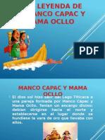 La Leyenda de Manco Capac y Mama Ocllo