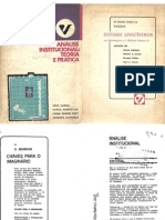 Lapassade Analise Institucional Teoria Pratica 1973