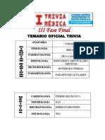 Temario III Fase 20 de Noviembre Trivia Medica 2015