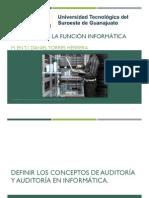 El Auditor y Auditoria Informatica