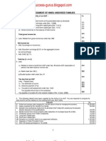 ICWAI Assessment of Hindu Undivided Families-Supplement to Direct & Indirect Taxation 2008 (Problems & Solutions) (Applicable for December,2008 term of ICWAI Examinations)