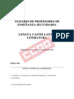 Doc83091 Temario de Lengua Castellana y Literatura