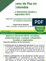 Balance de Angela Robledo sobre elecciones regionales y locales 2015