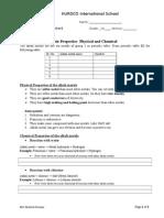 Alkali Metal Worksheet- For VI