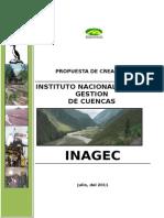 Inagec Propuesta de Creación Instituto Nacional de Gestión de Cuencas 2012