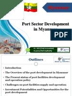Port Sector Development in Myanmar
