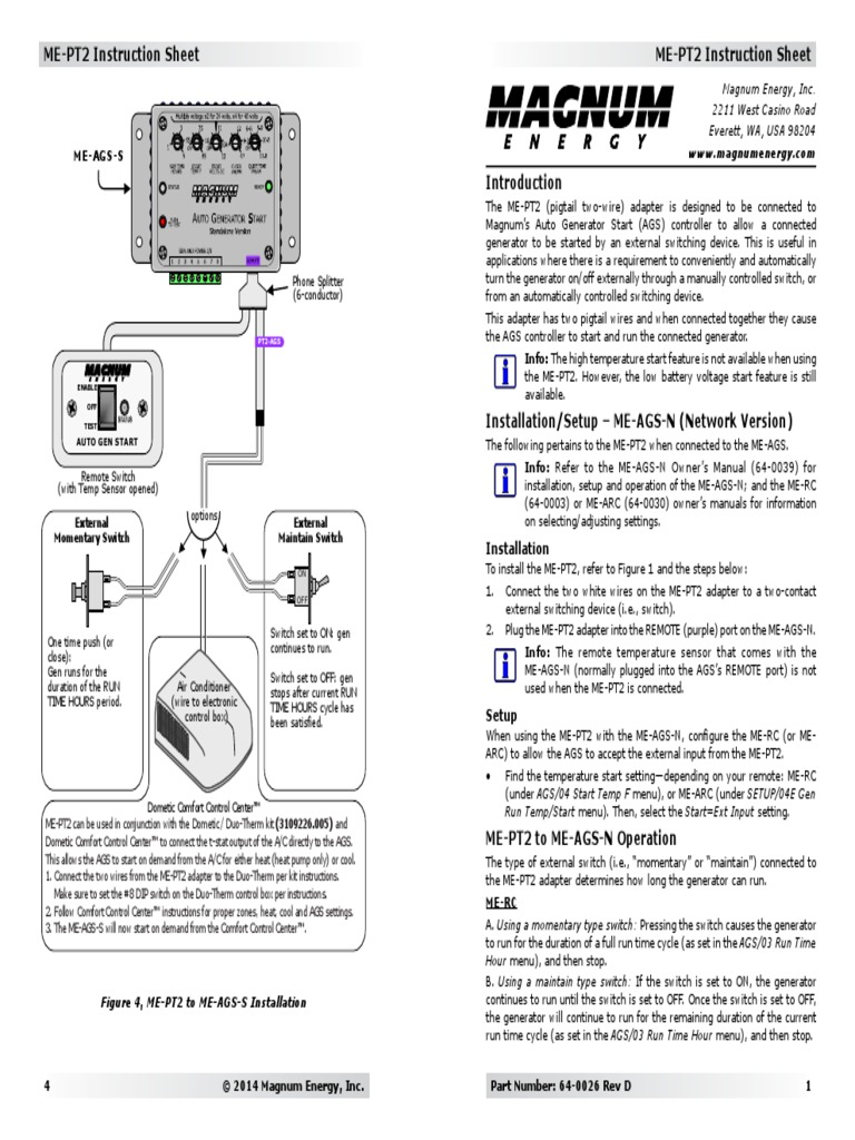 64 0026 Rev D Me Pt2 Booklet Print Switch Air Conditioning Two Wire Temperature Gauge Wiring Diagram