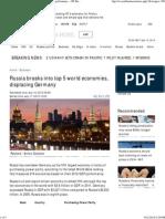 India, Russia Among Top 5 World Economies
