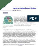 Power Management for Optimal Power Design