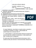 Esquema de Juicio Ordinario Laboral