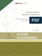 PCDT de 2015 para prevenção de transmissão vertical de HIV, sífilis e hepatites virais