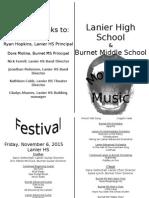 Monster Concert Program
