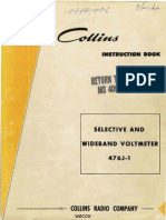 Collins Selective and Wideband Voltmeter 476J-1 Manual 523 0276 00, Revised 15 June 1961.