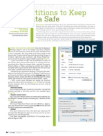 Use Partitions to Keep Your Data Safe