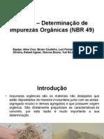 Ensaio - Determinação de Impurezas Organicas (1)
