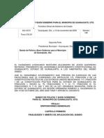 Bando de Policia y Buen Gobierno Guanajuato