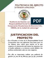 Responsabilidad Social Corporativa, a la Corporación Ecuatoriana de Aluminio S.A