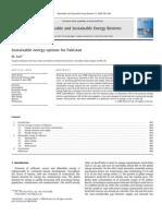 SustainableEnergyOptionsForPakistan Asif