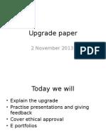Upgrade Paper