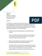 AmnestyUSA Letter to CAP 2015-11-09 PM Netanyahu Speech