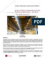 On Site Maintenance of Strategic Rotating Machines  - May 2009.pdf