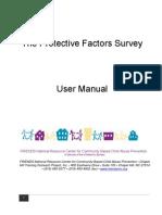 Protective Factors Survey User's Manual