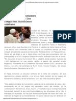 Francisco en El Encuentro Eclesial Nacional_ Los Rasgos Del Humanismo Cristiano