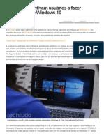 HP e Dell Incentivam Usuários a Fazer Downgrade de Windows 10