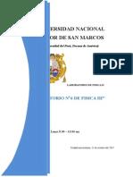 INFORME N6 FISICA III unmsm