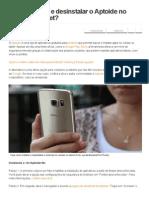 Como Instalar e Desinstalar o Aptoide No Celular Ou Tablet