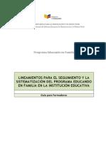 Modelo de Seguimiento del programa de escuela para padres