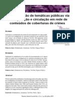 A mediatização de temáticas públicas via recomposição e circulação em rede de conteúdos de coberturas de crimes