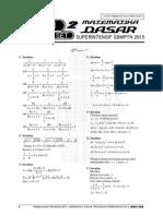 Pembahasan Ps 2 MATEMATIKA DASAR Superintensif SBMPTN 2015