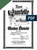 Bumcke 2SaxQuartets Op 23 Score