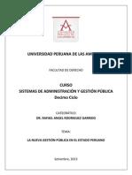 Caracteristicas de La Nueva Gestion Publica - Sistemas de Administracion y Gestion Publica