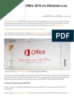 Como Ativar o Office 2016 No Windows e No Mac